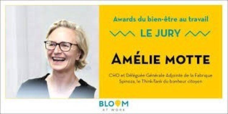 Awards du bien-être au travail: Amélie Motte membre du Jury !